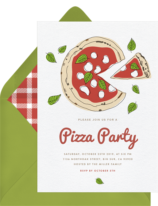 Pizza party invitation by Greenvelope