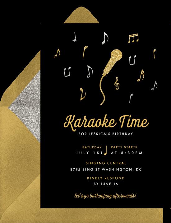 Karaokedance party invitation by Greenvelope