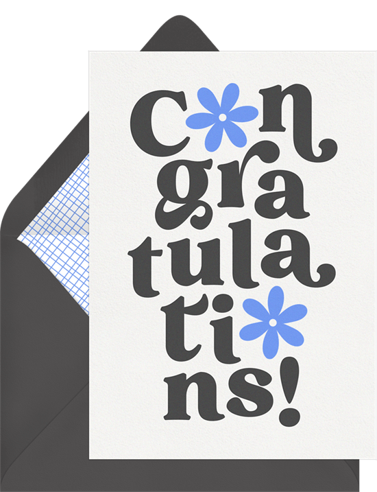 graduation card ideas: Blooming Congratulations Card by Greenvelope