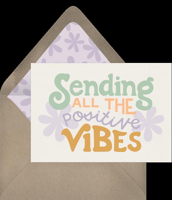 graduation card ideas: Sending Positive Vibes Card by Greenvelope
