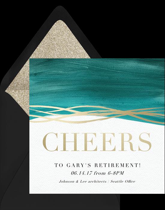 Modern Cheer Invitation by Greenvelope