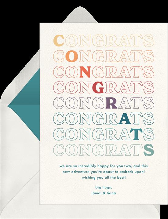 graduation card ideas: BIG Congrats! Card by Greenvelope
