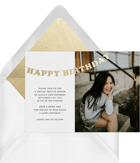 How to host a virtual event: a virtual birthday party invitation