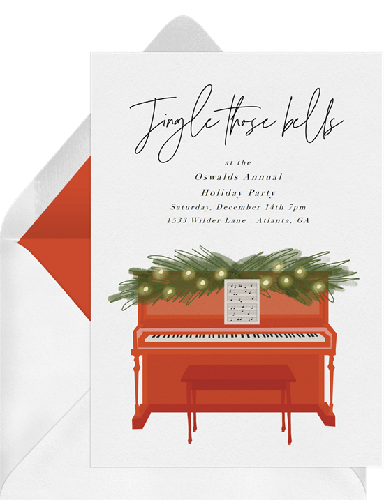 Company Christmas party ideas: An invitation to a musical party