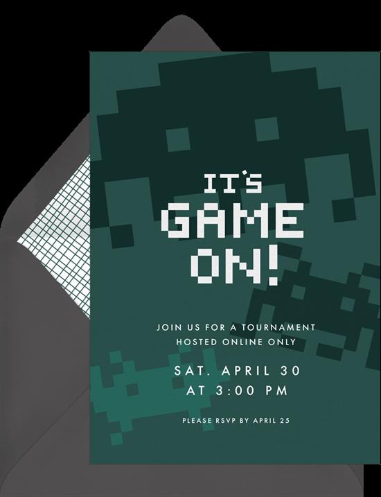 mario kart tour virtual party games invite from greenvelope