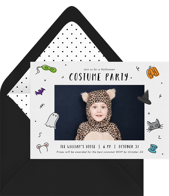 Halloween party game invitation