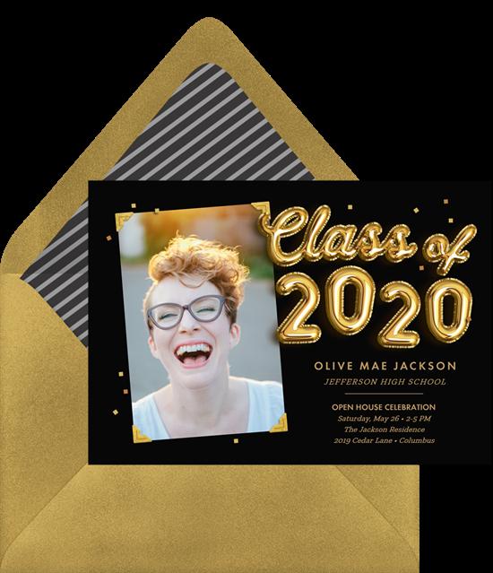Class of 2020 graduation invitation