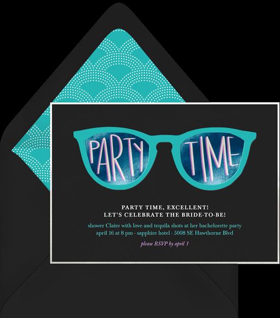 Bachelorette Party Decor Ideas: Neoon sunglasses