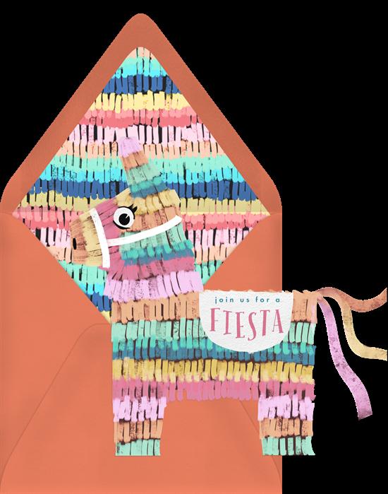 Colorful Piñata Invitation