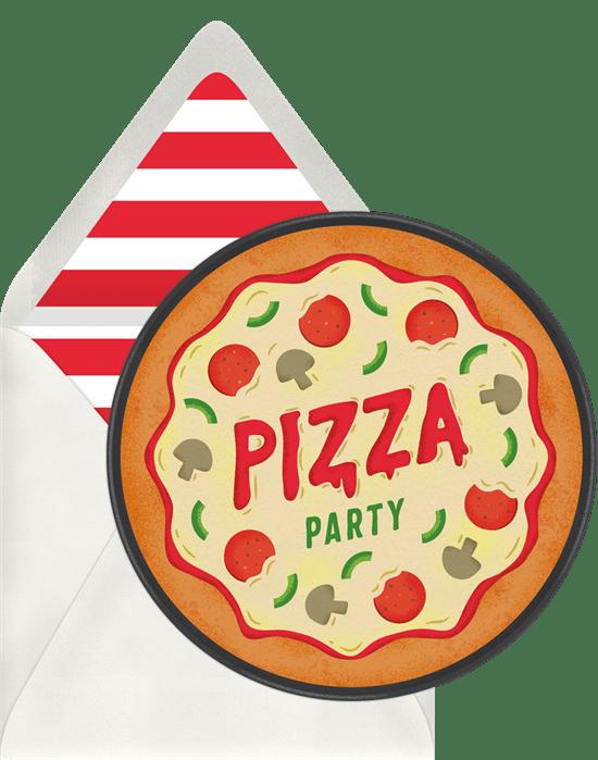 sleepover invitations: Pizza Party Invitation from Greenvelope