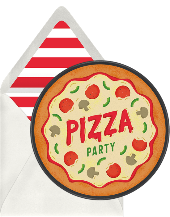 pizza party invitation from Greenvelope