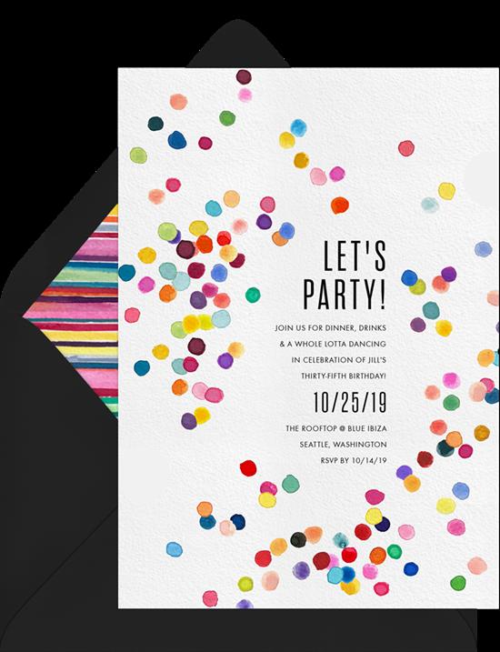 celebrating Pride: polka dots themed Pride invitation from Greenvelope