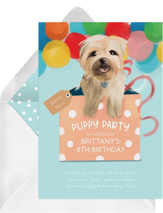 Party Puppy Invitation by Greenvelope