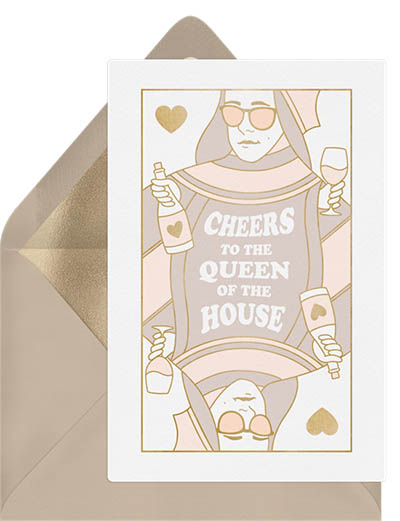 Queen of the house mothers day card messages