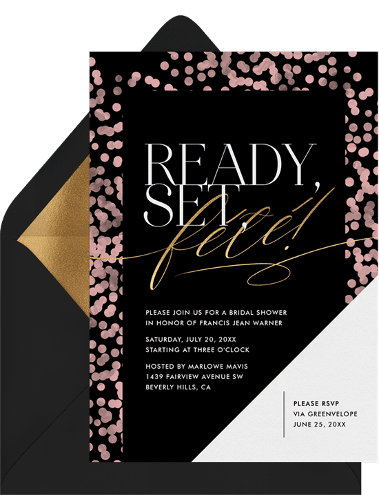 bridal shower invitations: Ready, Set, Fête Invitation