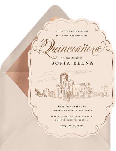 quinceanera gifts: Royal Quinceañera Invitation by Greenvelope