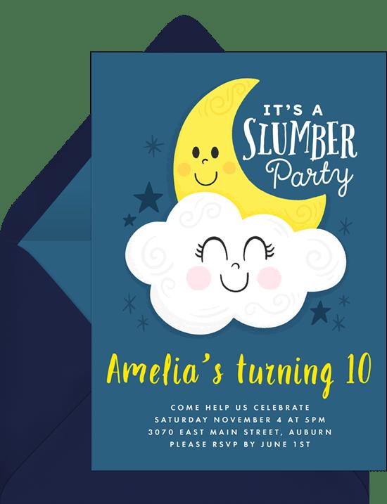 Slumber Party Invitation from Greenvelope