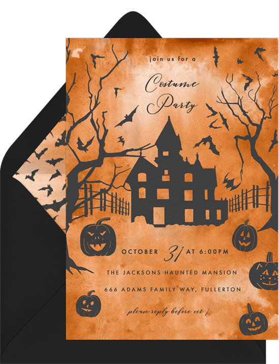 Spooky Mansion Invitation from Greenvelope