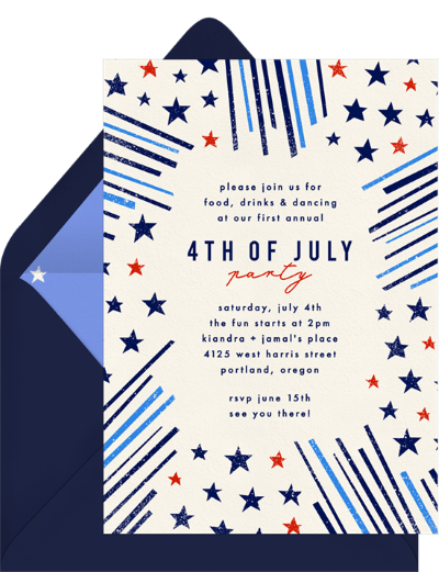 4th of July party invitations: Stars & Stripes Invitation by Greenvelope
