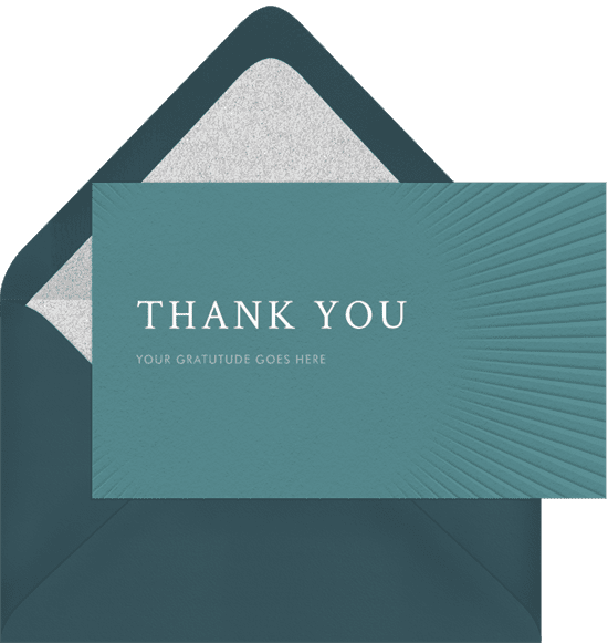 Textured, minimalist business thank you cards