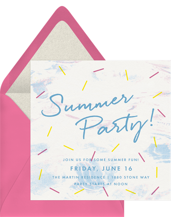 summer party ideas: summer party invitation from Greenvelope