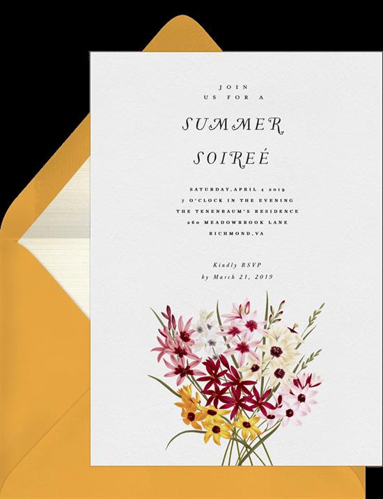 summer party ideas: elegant summer soirée invitation from Greenvelope