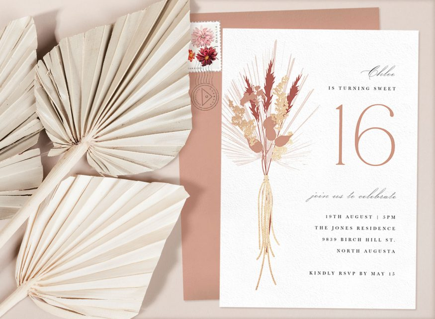sweet 16th invitation wording: sample party invitation from Greenvelope