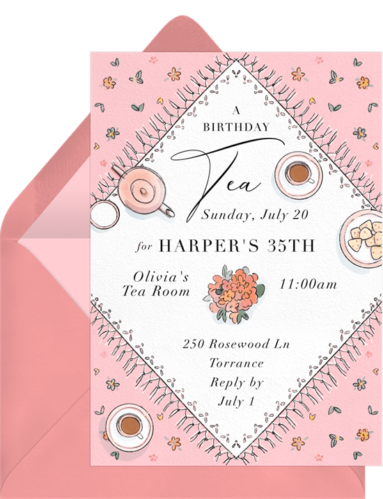 Sweet Tea Party Invitation from Greenvelope