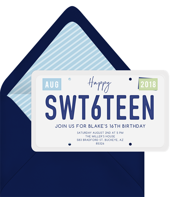 SWT6TEEN Invitation from Greenvelope