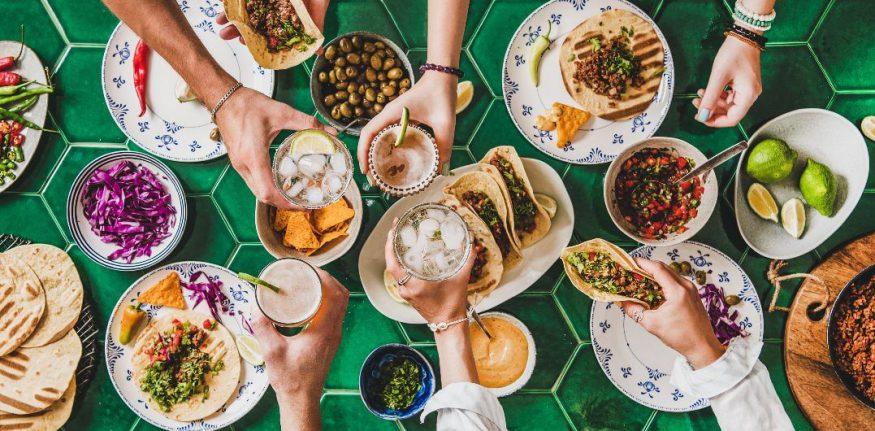 Taco party ideas: food spread