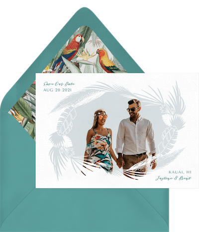 Tropical Frame Wedding Invitation