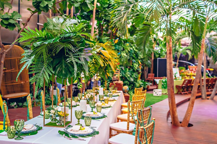 tropical party dining inspiration