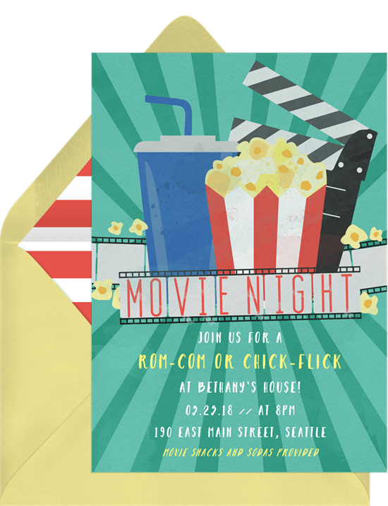 Movie Party Invitation from Greenvelope