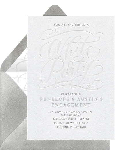 all white party: White Party Invitation by Greenvelope