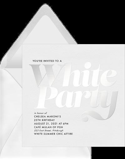 White Summer Chic Invitation by Greenvelope