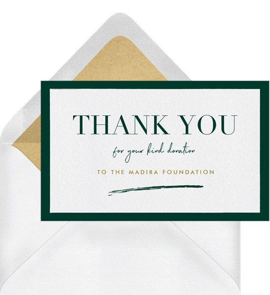 Modern, minimal business thank you cards