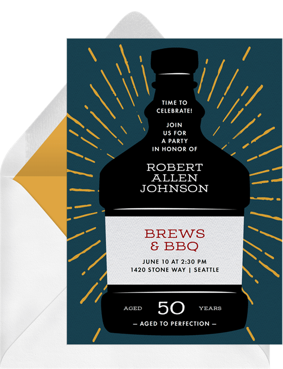 aged to perfection invitations greenvelope com