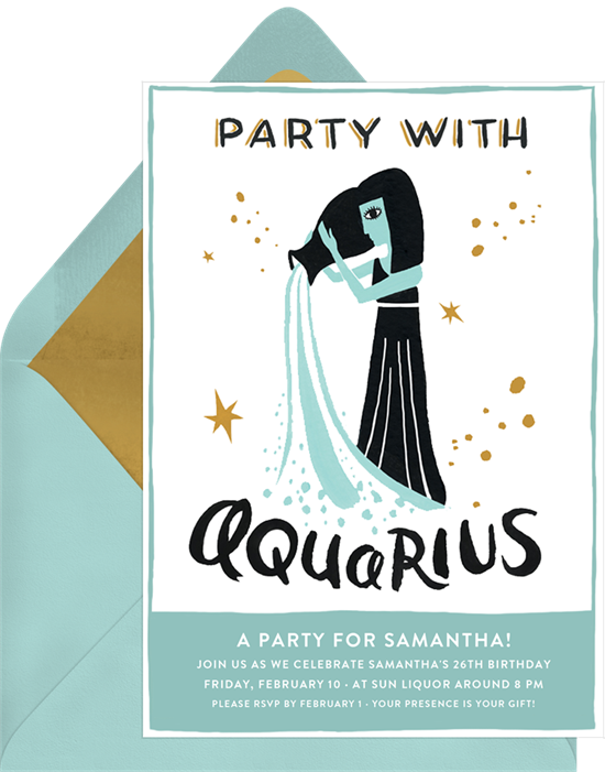 Aquarius By Idlewild Co  Invitations | Greenvelope com
