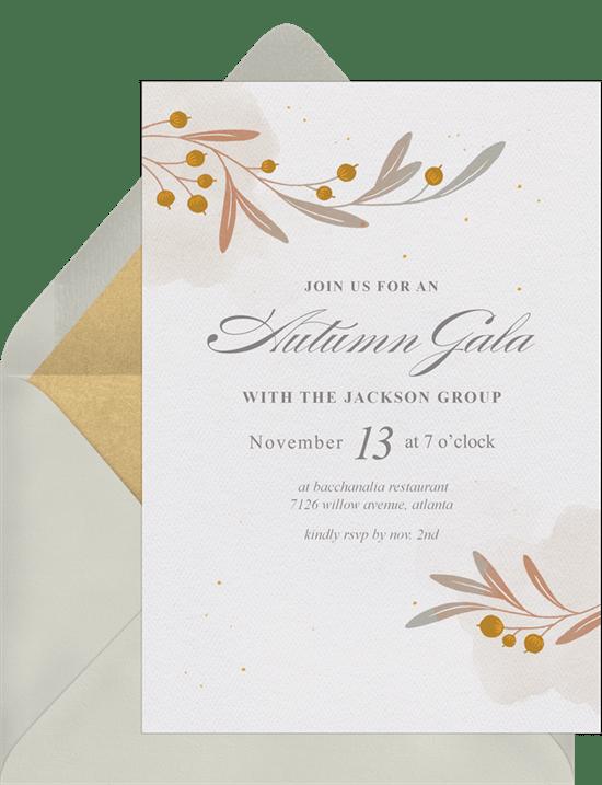 autumn branches invitations greenvelope com