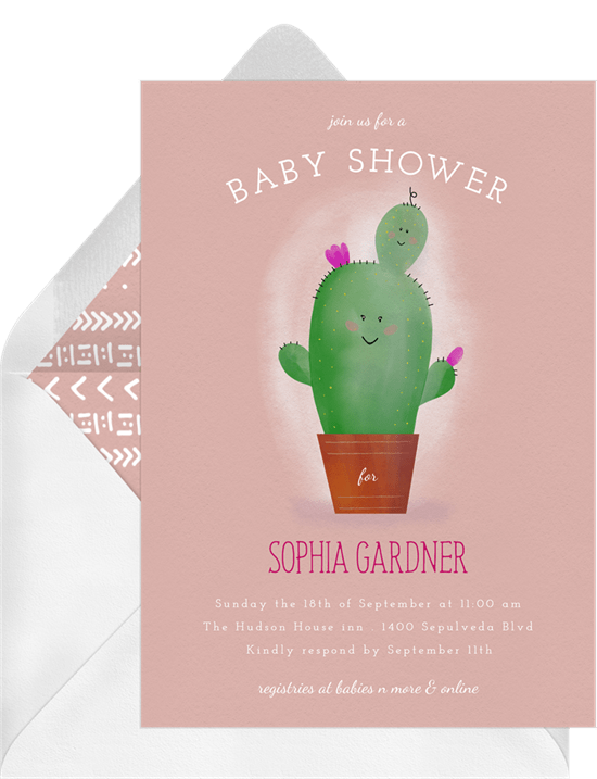 baby cactus invitations greenvelope com