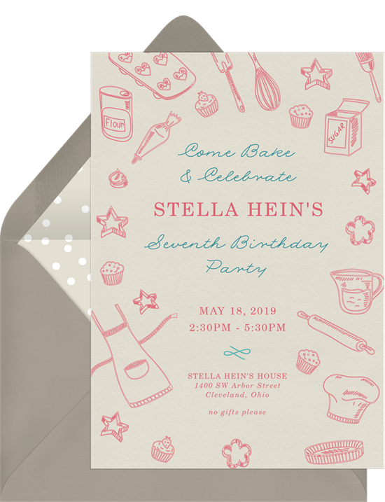Baking Party Invitations In Creme Greenvelope Com
