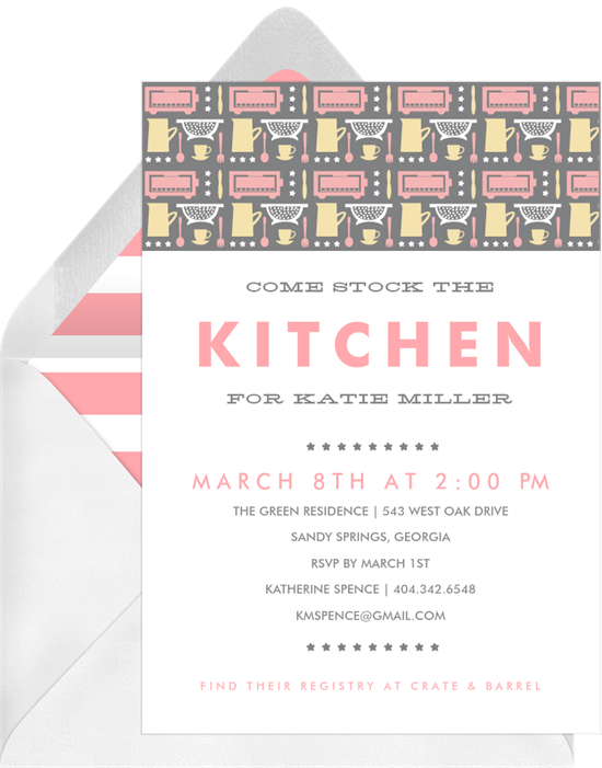 Be Our Guest Invitations in Pink Greenvelopecom