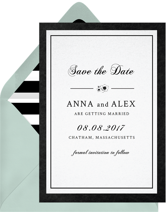 black and white save the dates greenvelope com