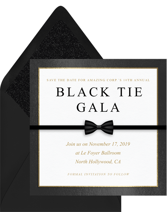 black tie affair save the dates in white greenvelope com