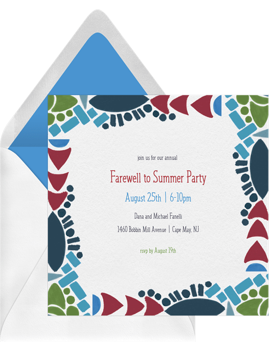 Bold Shapes Invitations Greenvelope Com