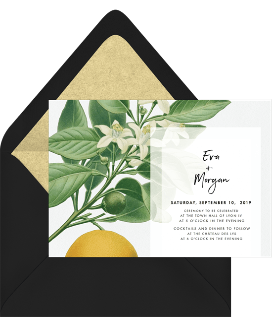 Botanical Illustrations Invitation