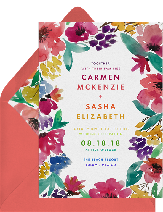 Bright and Bold Florals Invitation