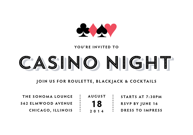 Casino invitation night wolman turning stone casino