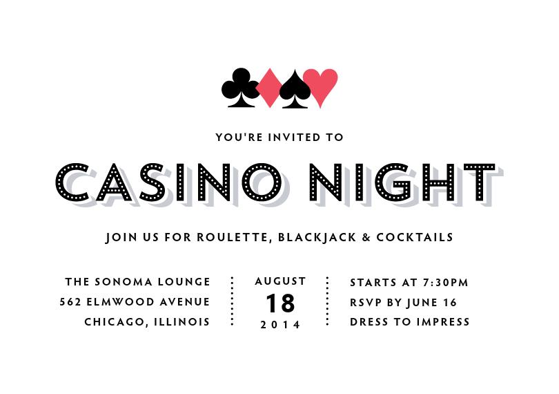 Casino invitation night sample new york city poker casino