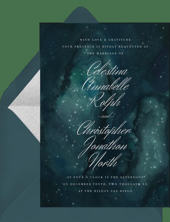 celestial elegance invitations greenvelope com
